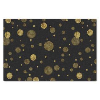 金ゴールドの魅力的な《写真》ぼけ味の紙吹雪の点 薄葉紙