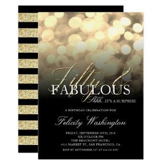 金ゴールドの魅力50及びすばらしい驚きの誕生会 カード