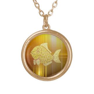 金ゴールドの魚の生命 ゴールドプレートネックレス