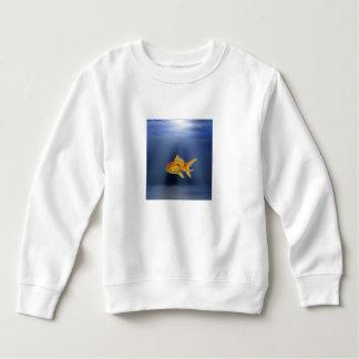 金ゴールドの魚はセーターをからかいます スウェットシャツ