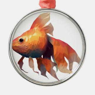 金ゴールドの魚 メタルオーナメント