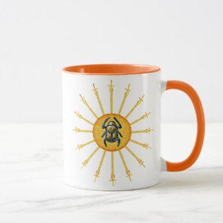 金ゴールドの黄色いエジプトのオオタマオシコガネの日曜日Ankhのコーヒー・マグ マグカップ