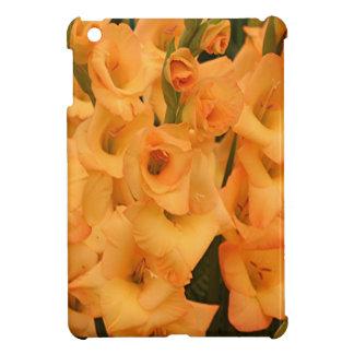 金ゴールドの黄色いグラジオラスの花 iPad MINIケース