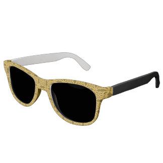 金ゴールドの黒いバロック式のデザインのサングラス サングラス