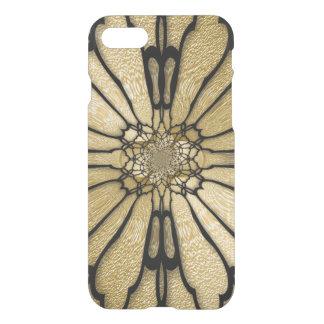 金ゴールドの黒い蝶によっては目の錯覚が飛びます iPhone 8/7 ケース