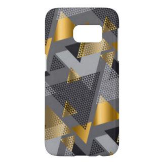金ゴールドの黒い銀の抽象芸術パターンデザイン SAMSUNG GALAXY S7 ケース