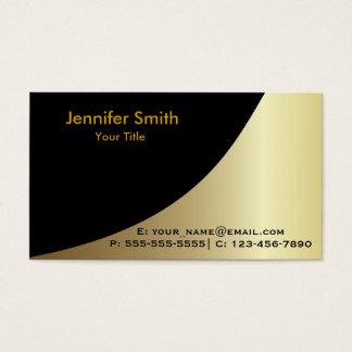 金ゴールドの黒くエレガントなテンプレート 名刺