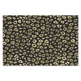 金ゴールドの黒くグラデーションなヒョウのプリント 薄葉紙