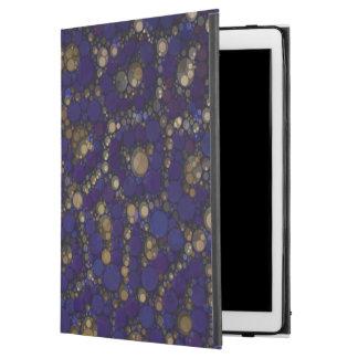 """金ゴールドの黒く青いチータの抽象芸術 iPad PRO 12.9"""" ケース"""