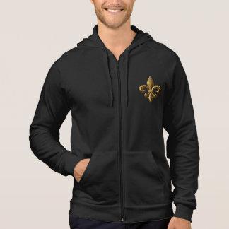 金ゴールドの(紋章の)フラ・ダ・リのフード付きスウェットシャツ パーカ