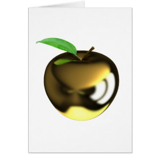 金ゴールドのAppleの挨拶状 カード