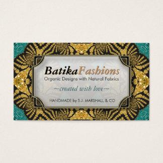 金ゴールドのBatikaのファッションのモダンな種族の名刺 名刺