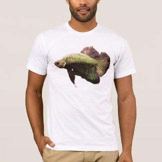 金ゴールドのBettaのシャムの戦いの魚 Tシャツ