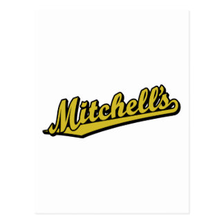 金ゴールドのMitchell ポストカード