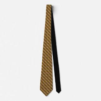 金ゴールドのRhombus™メンズのネクタイ オリジナルネクタイ