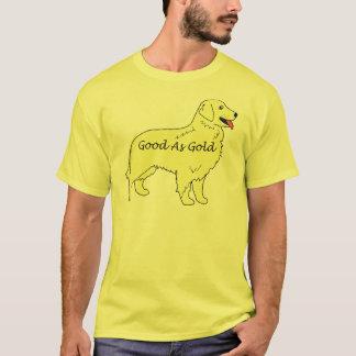 金ゴールドのTシャツとしてよいゴールデン・リトリーバー Tシャツ