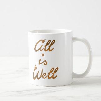金ゴールドはすべて健康な引用文のタイポグラフィです コーヒーマグカップ