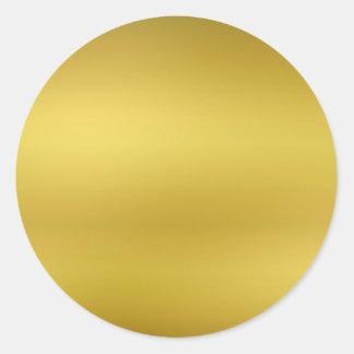 金ゴールドはテンプレートののどホイルを消します ラウンドシール