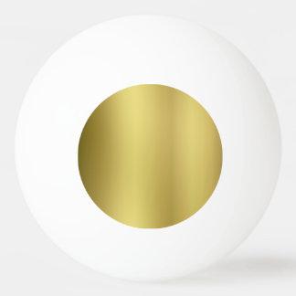 金ゴールドはテンプレートを消します 卓球ボール