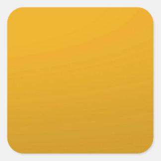 金ゴールドはテンプレートを消します: 文字、イメージ、盛り土色を加えて下さい 正方形シールステッカー