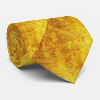 金ゴールドはパターンネクタイを抽出します カスタムタイ