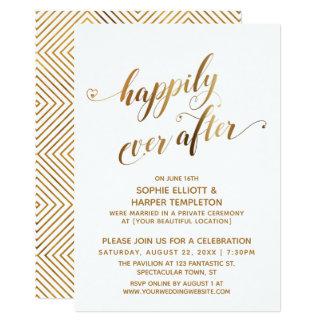 金ゴールドは幸福にその後ずっと結婚式のお祝いを掲示します カード