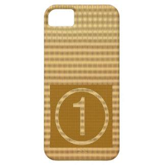 金ゴールドは縞で飾ります-遠くにな数に1個のギフトを与えて下さい iPhone 5 ケース