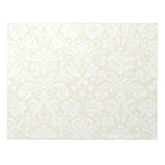 金ゴールドは花のダマスク織を空想します ノートパッド
