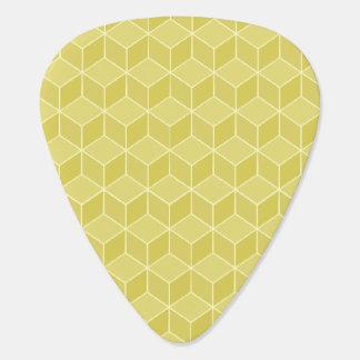 金ゴールドは3D立方体の滝のように落とを着色しました ギターピック