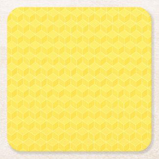 金ゴールドは3D立方体の滝のように落とを着色しました スクエアペーパーコースター