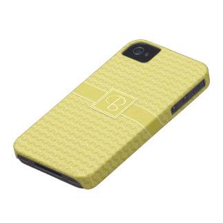 金ゴールドは3D立方体の滝のように落とを着色しました Case-Mate iPhone 4 ケース