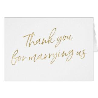 """金ゴールドは""""結婚するために感謝していしています私達と"""" グリーティングカード"""