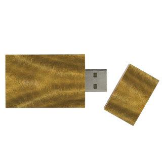 金ゴールドはUSB Flashdriveをおおいます ウッドUSBフラッシュドライブ