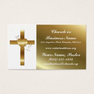 金ゴールドはwの鳩教会大臣名刺を交差させます 名刺