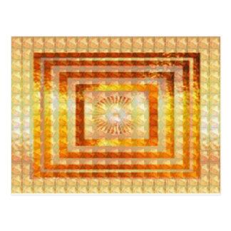 金ゴールドエネルギー芸術-スマイルの楽しむな共有の喜びの幸せなギフト ポストカード