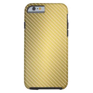 金ゴールドカーボン繊維パターン基盤 iPhone 6 タフケース