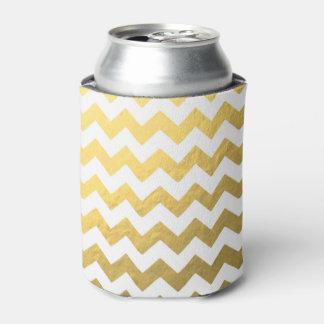金ゴールドシェブロンCoozie 缶クーラー