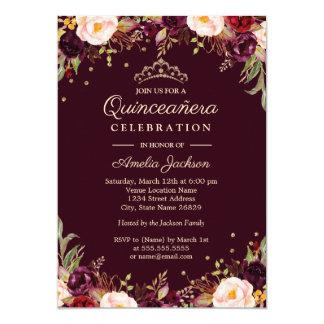 金ゴールドバーガンディエレガントな花のキンセアニェラ カード