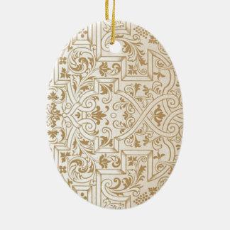 金ゴールドフランコ東洋の線条細工パターン空想のデザイン セラミックオーナメント