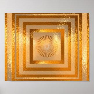金ゴールドプレートnの形成 ポスター
