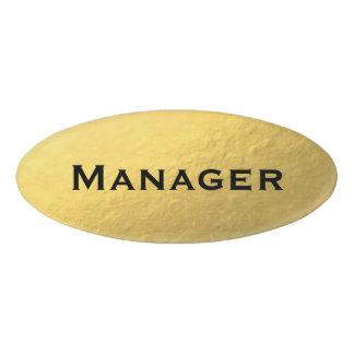 金ゴールドホイルのデザイン 名札