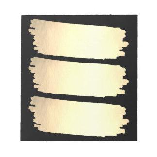 金ゴールドホイルのペンキのリストの金ゴールドの一見の材料見本 ノートパッド