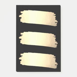 金ゴールドホイルのペンキのリストの金ゴールドの一見の材料見本 ポストイット