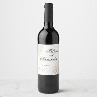 金ゴールドホイルのヴィンテージのレースのカスタムなワインのラベル ワインラベル