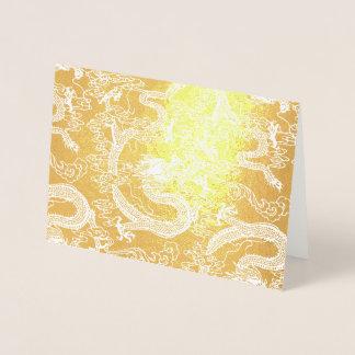 金ゴールドホイルの中国のなドラゴンパターン 箔カード