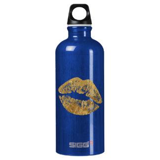 金ゴールドホイルの効果のキスのSiggの水差し ウォーターボトル
