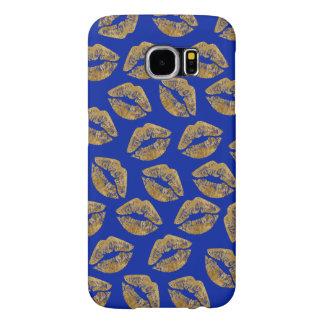 金ゴールドホイルの効果のキスSamsungは場合に電話をかけます Samsung Galaxy S6 ケース
