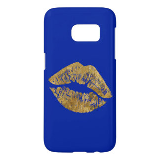金ゴールドホイルの効果のキスSamsungは場合に電話をかけます Samsung Galaxy S7 ケース