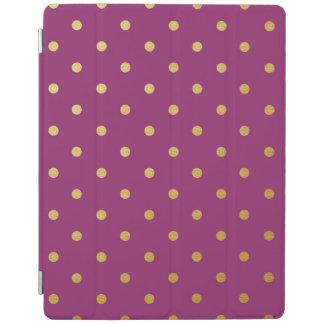 金ゴールドホイルの水玉模様のモダンな紫色の金属 iPadスマートカバー