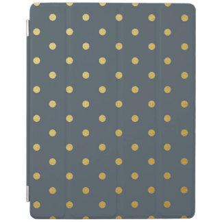 金ゴールドホイルの水玉模様の金属モダンなスレートグレー iPadスマートカバー